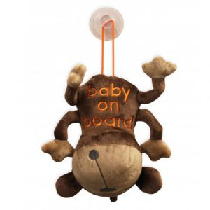 Titanium Baby | Baby On Board Knuffel met Zuignap Monkey