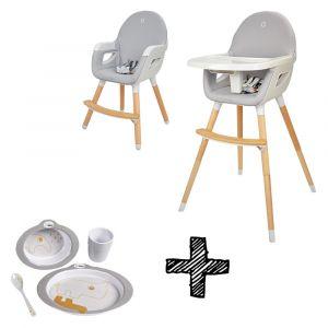 Kinderstoel Titanium Baby Dayz Grijs/Wit + Gratis Eetset Done By Deer