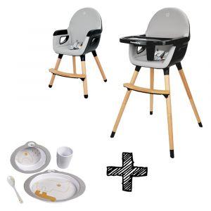 Kinderstoel Titanium Baby Dayz Grijs/Antraciet + Gratis Eetset Done By Deer