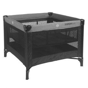 Reisbed / Box Titanium Baby Black 100x100cm | Incl. verhoging