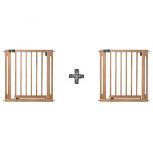 SET | 2x  Traphek Safety 1st. Easy Close Wood Naturel