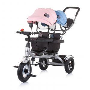 Driewieler Tandem Chipolino 2Play Blue / Pink