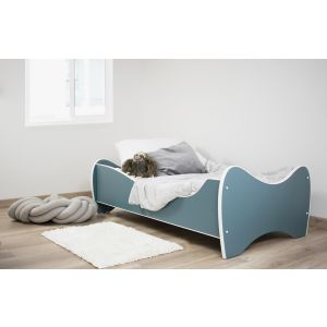 Peuterbed Top Beds Midi Color 70x140 Pastel Donker Turquoise Incl. Matras