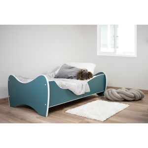 Kleuterbed Top Beds Midi Color 160x80 Pastel Turquoise Incl. Matras Sfeer
