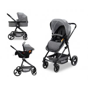 Kinderwagen Asalvo Riso Grey incl. Autostoel
