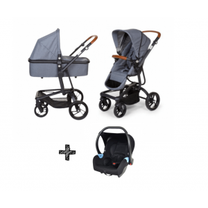 Kinderwagen Childhome Urbanista 2-in-1 Canvas Grijs + Autostoel