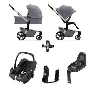 Kinderwagen Joolz Hub+ Gorgeous Grey met Autostoel & Base