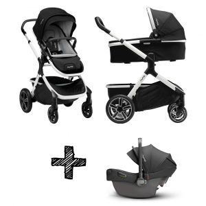 Set | Kinderwagen Nuna Demi Grow Cyber + Autostoel Nuna Pipa Next Compatible Caviar