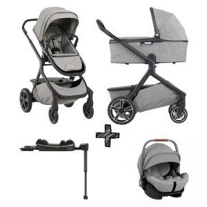 SET | Kinderwagen Nuna Demi Grow Frost + Autostoel Nuna Arra Frost (incl. Nuna Base)