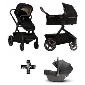SET | Kinderwagen Nuna Demi Grow Riveted + Autostoel Nuna Pipa Next Compatible Caviar