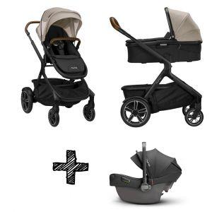 SET | Kinderwagen Nuna Demi Grow Timber + Autostoel Nuna Pipa Next Compatible Caviar