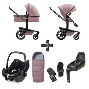 Set Compleet | Joolz Day+ Premium Pink + Voetenzak & Autostoel & Base & Adapterset