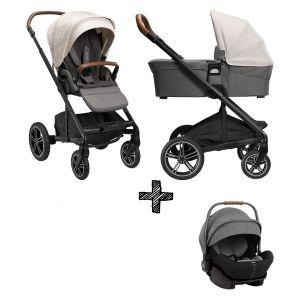 SET | Kinderwagen Nuna Mixx Next Birch + Autostoel Nuna Arra Frost