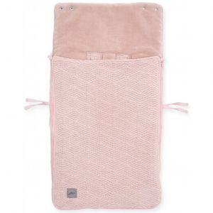 Voetenzak Jollein River Knit Pale Pink front