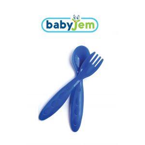 Baby Lepel & Vork Blauw Babyjem