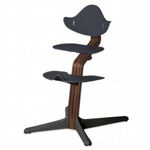 Kinderstoel Nomi Walnut Natural + Anthracite Zitting + Beugel + Eetblad
