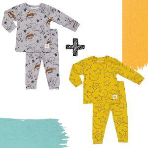 SET 2st. | Feetje Limited Edition Pyjama's - Roar Riley & Star Skylar