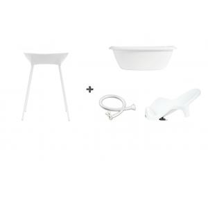 Luma Bad Wit + Badstandaard Wit + accessoire-set