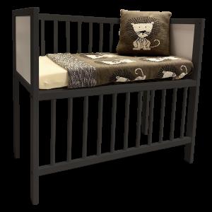 Wieg / Co-sleeper Bedside 40x80 Antraciet