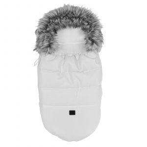 Voetenzak Junama Iglo White / Silver Zipper