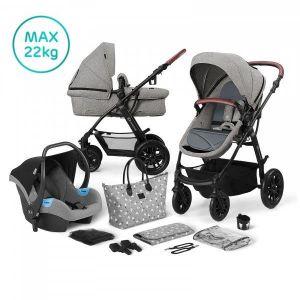 Kinderwagen Kinderkraft Xmoov 3-in-1 Grey (incl. Autostoel & Luiertas)