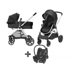 Kinderwagen Maxi-Cosi Zelia 2.0 Essential Black met Autostoel Maxi-Cosi CabrioFix