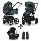 Kinderwagen Cavoe Axo Comfort Lagoon 3in1 + Gratis Wipstoel