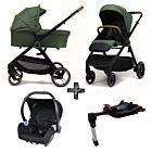 Kinderwagen NoviNeo Green/Cognac Grip 4in1 Inclusief Autostoel & Isofixbase