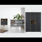 Babykamer Quax Loft Antracite 3-deurskast
