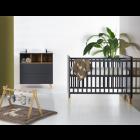 Babykamer Quax Loft Antracite (Ledikant + Commode)
