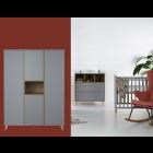 Babykamer Quax Loft Grey 3-deurskast