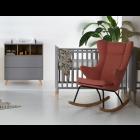 Babykamer Quax Loft Grey (Ledikant + Commode)