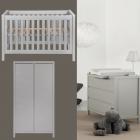 Babykamer Quax Stripes Griffin Grey 2-deurskast