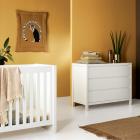 Babykamer Quax Stripes White (Ledikant + Commode)