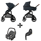 Kinderwagen Maxi-Cosi Plaza+ Essential Graphite inclusief Autostoel Rock & Base