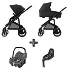 Kinderwagen Maxi-Cosi Plaza+ Essential Black inclusief Autostoel Rock & Base