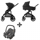 Kinderwagen Maxi-Cosi Plaza+ Essential Black inclusief Autostoel Rock