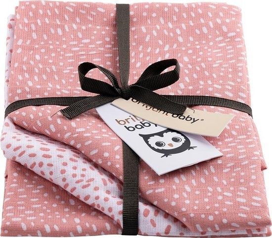 Image of Luiers Hydrofiel Briljant Baby 3 stuks Minimal Dots Pink
