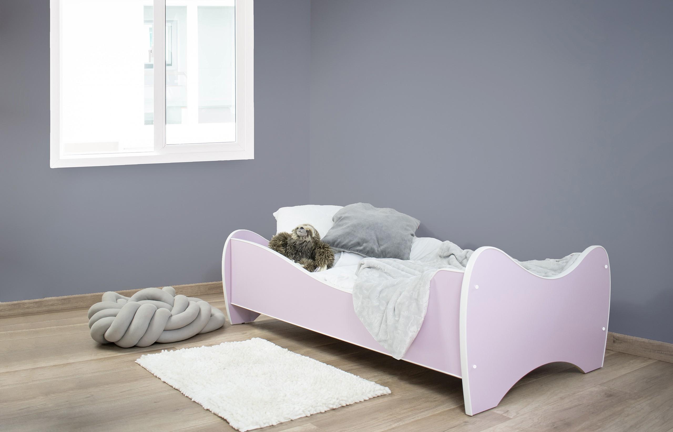 Peuterbed Top Beds Midi Color 70x140 Pastel Lichtroze Incl. Matras