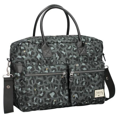 Image of Luiertas Kidzroom Care Leopard Love Black
