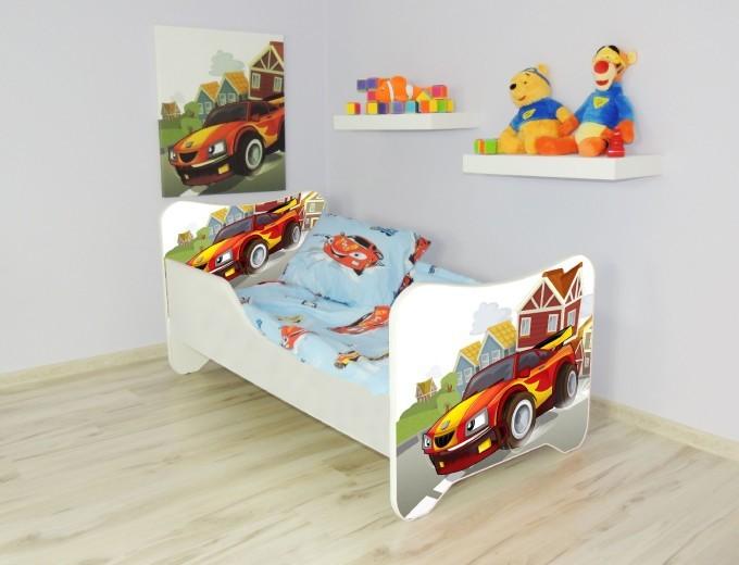 Peuterbed Top Beds Happy 140x70 Racewagen Inclusief Matras