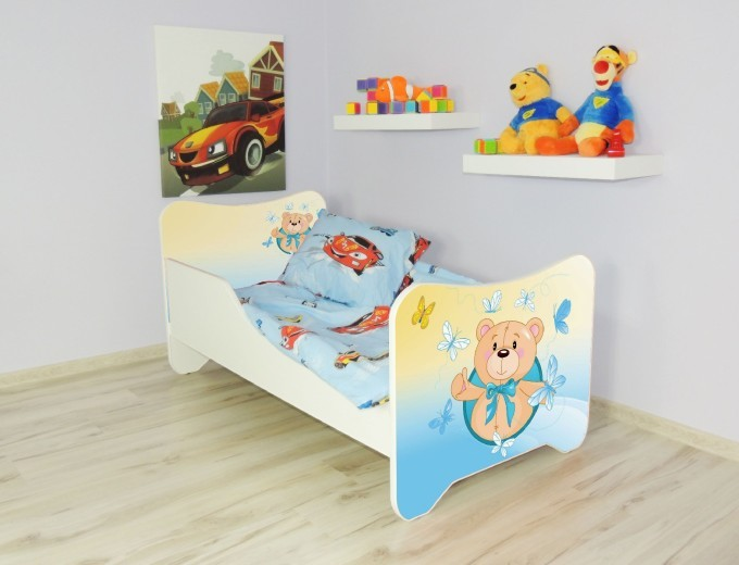 Peuterbed Top Beds Happy 140x70 Teddybeer Inclusief Matras