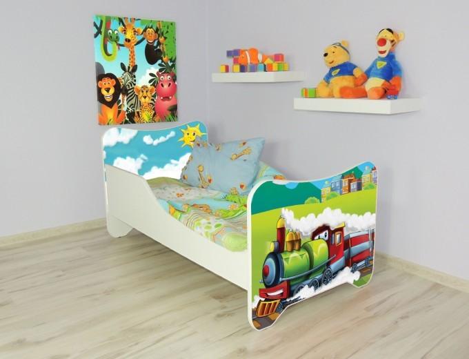 Peuterbed Top Beds Happy 140x70 Trein Inclusief Matras